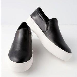 Steve Madden Gills Black Leather Platform Sneaker
